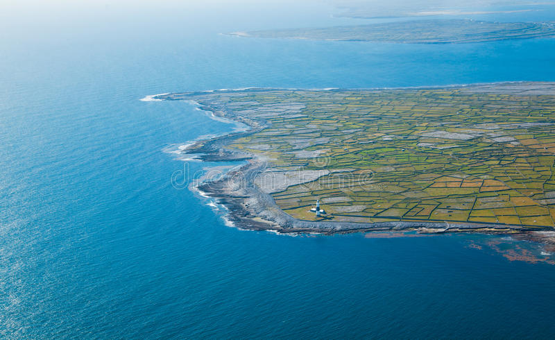 Inisheer et Inishmore photographie stock libre de droits