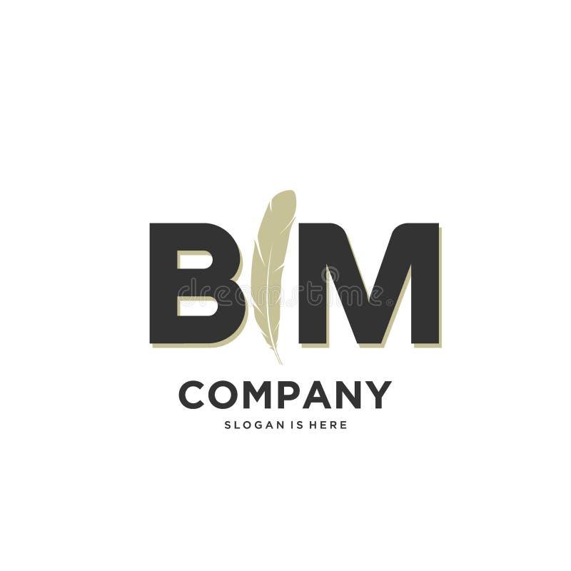 Modern Abstract Initial Letter BM Logo Stock Vector