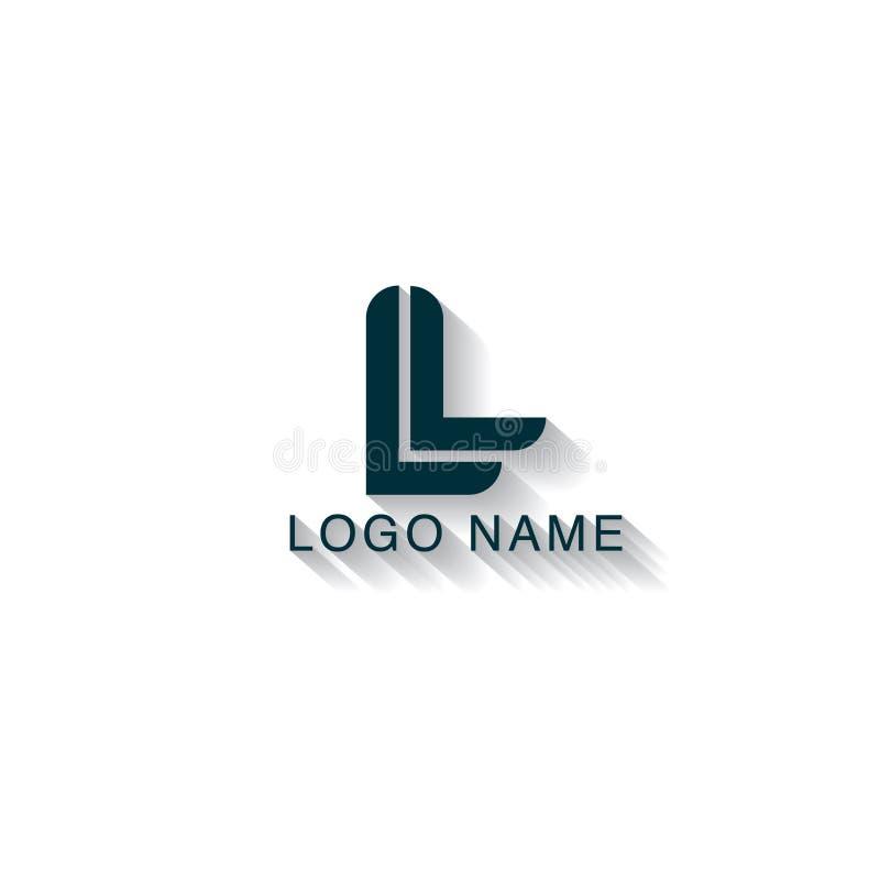 Initial bokstav L logodesign med en linje begrepp Modern logodesignmall vektor illustrationer