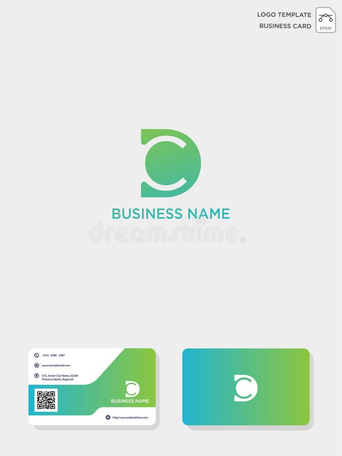 Initial CD or DC creative logo template and business card template. vector illustration and logo inspiration. Initial CD or DC creative logo template and vector illustration