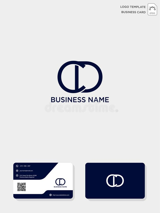 Initial CD or DC creative logo template and business card template. vector illustration and logo inspiration. Initial CD or DC creative logo template and royalty free illustration