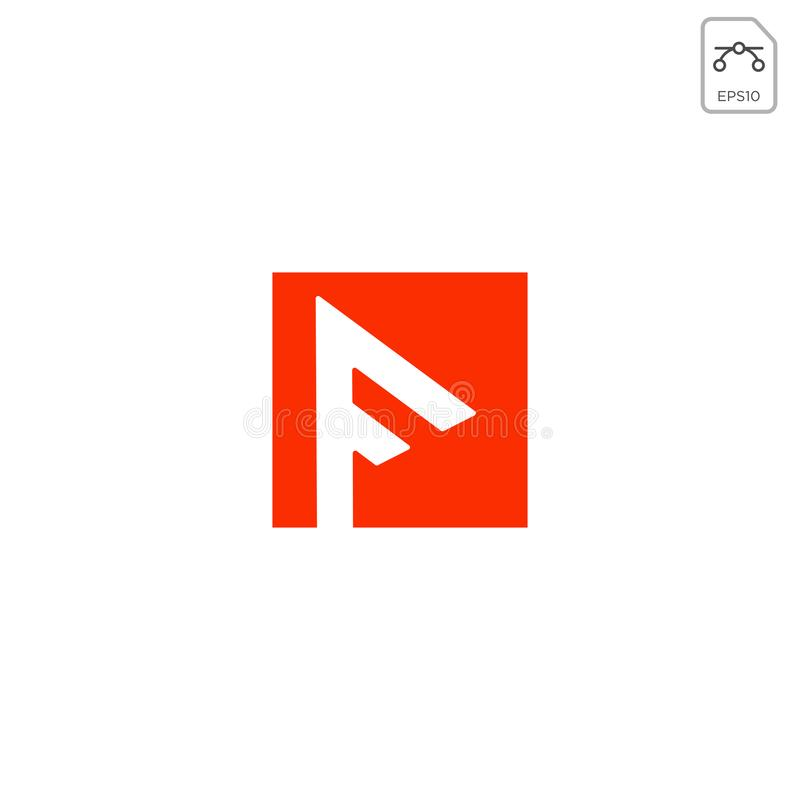 initial f logo design for business abstract vector icon element isolated royalty free illustration