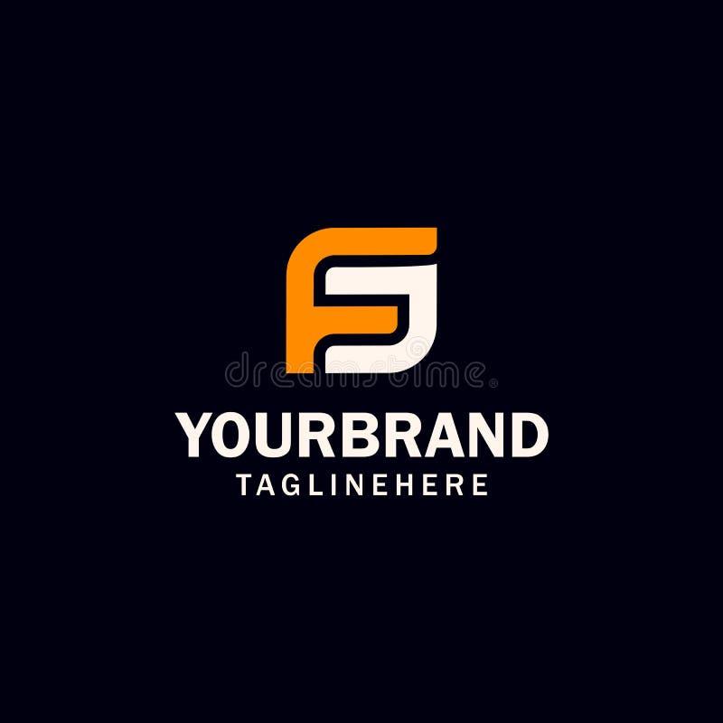 Initial FS or SF letter logo design stock illustration