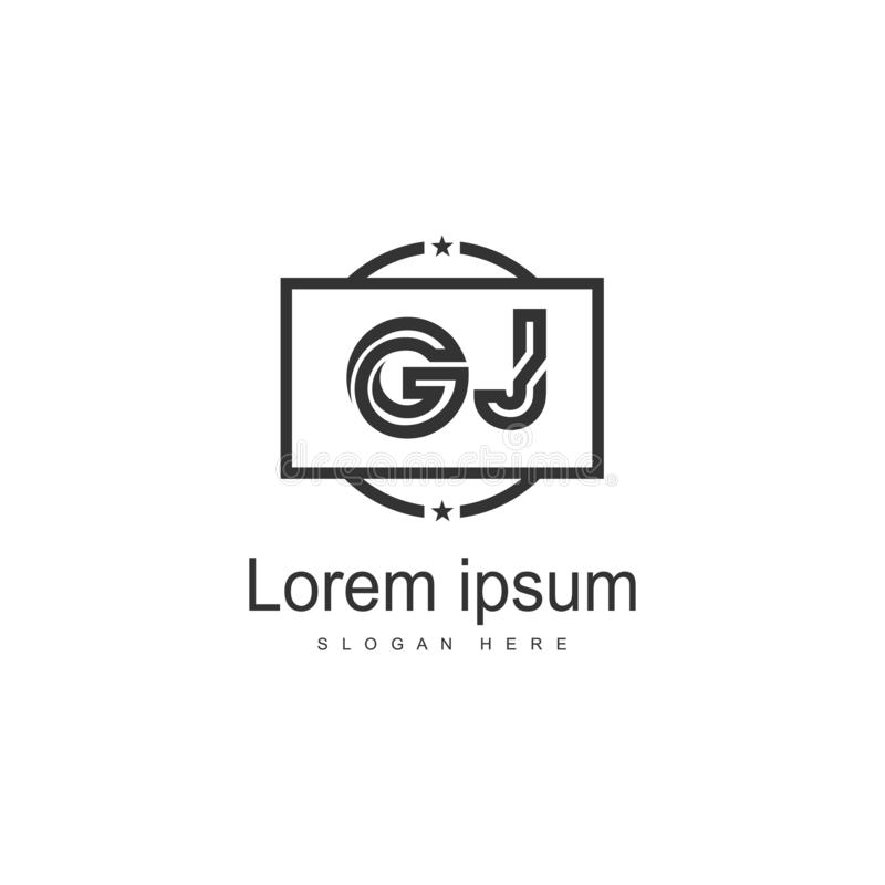 JG Letters Design Logo Stock Vector. Illustration Of Brand