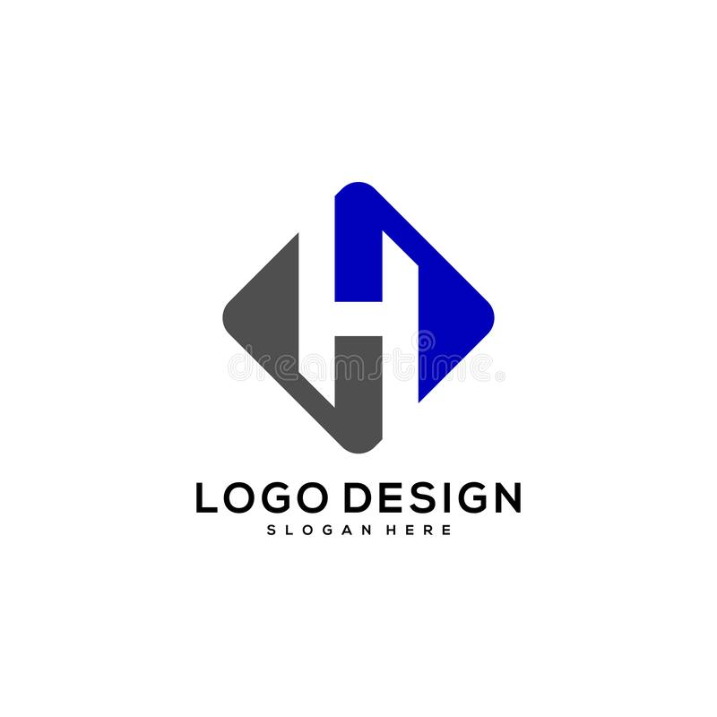 Initial H logo design vector. Concept design template stock illustration