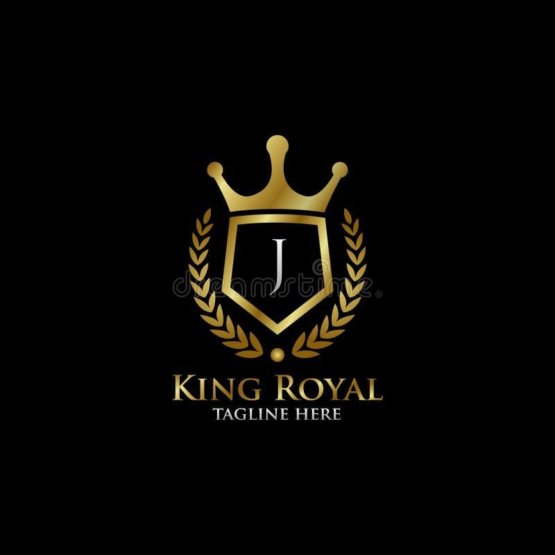 Initial J Luxury Shield Royal Logo Stock Illustration
