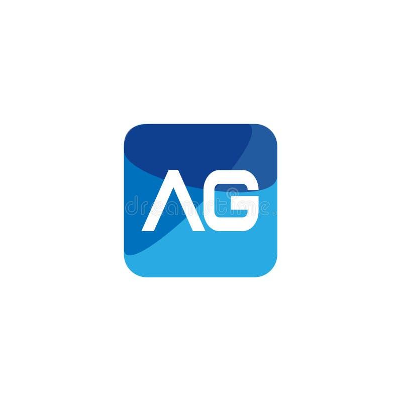 Initial Letter AG Logo Template Vector Design vector illustratie