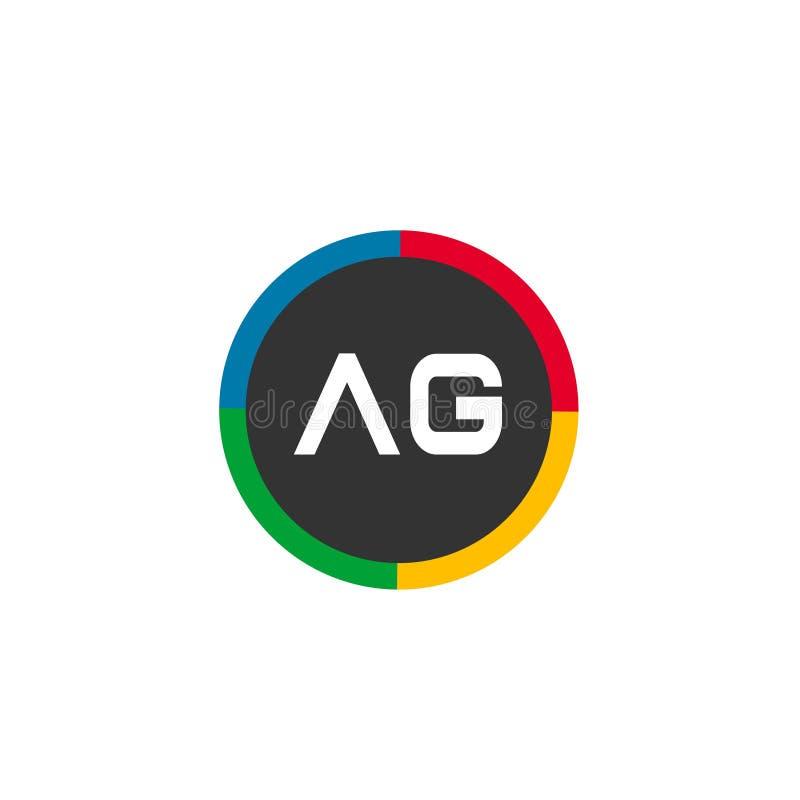 Initial Letter AG Logo Template Vector Design stock illustratie