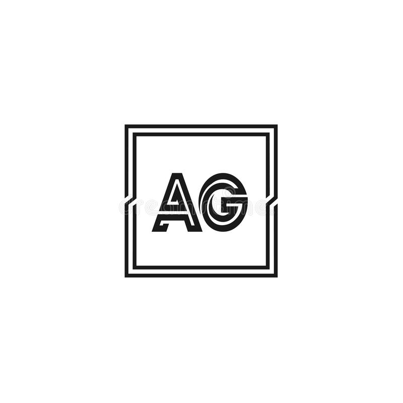 Initial Letter AG Logo Template Vector Design royalty-vrije illustratie