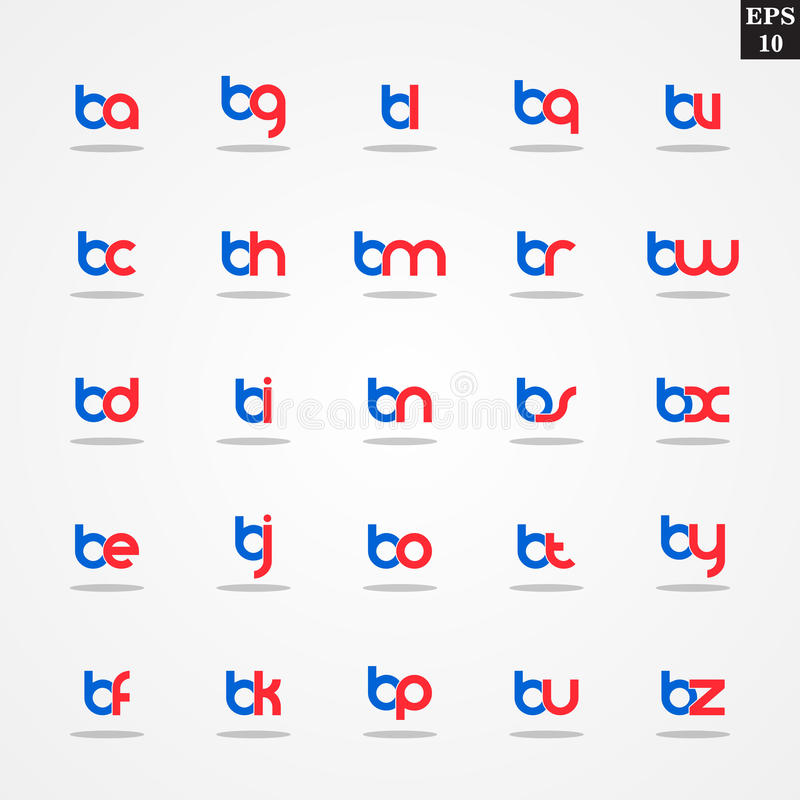 Initial letter b compilation from a to z lowercase logo design download initial letter b compilation from a to z lowercase logo design template colorful stock illustration spiritdancerdesigns Gallery
