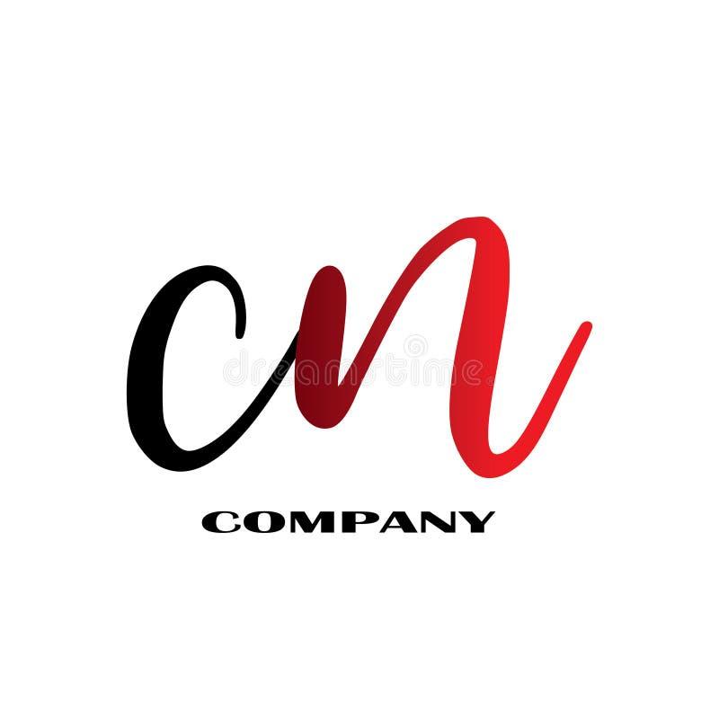 Initial Letter CN Linked Design Logo - Vector stock illustration