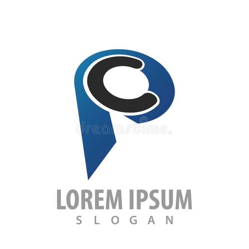 Initial letter CP PC logo concept design. Symbol graphic template element vector. Initial letter CP PC logo concept design. Symbol graphic template element vector illustration