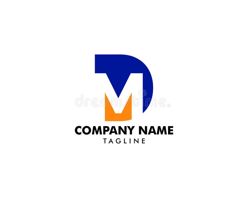 Initial Letter DM Logo Template Design royalty free illustration