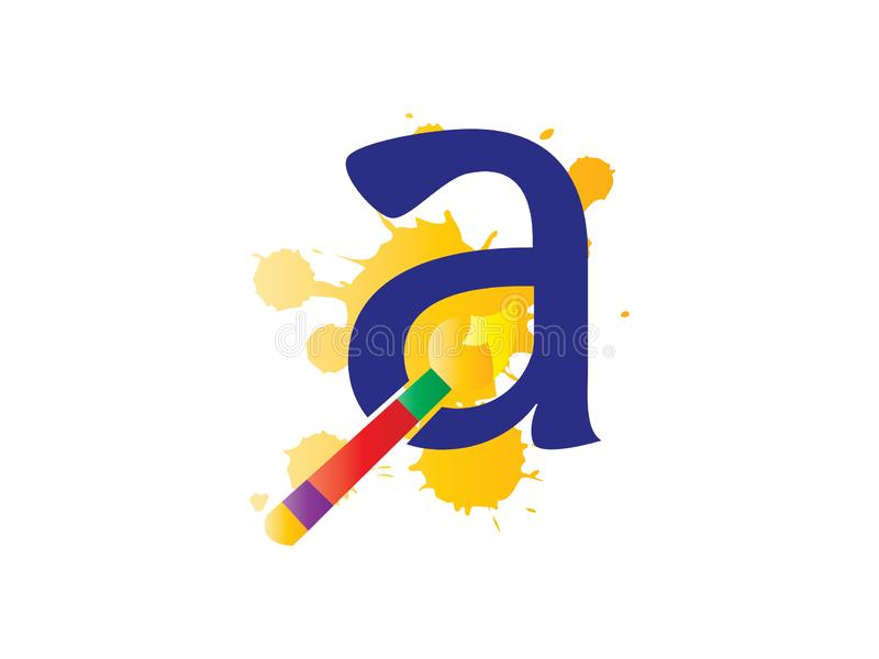 Initial letter A for drawing and Pencil Logo Company stock illustration