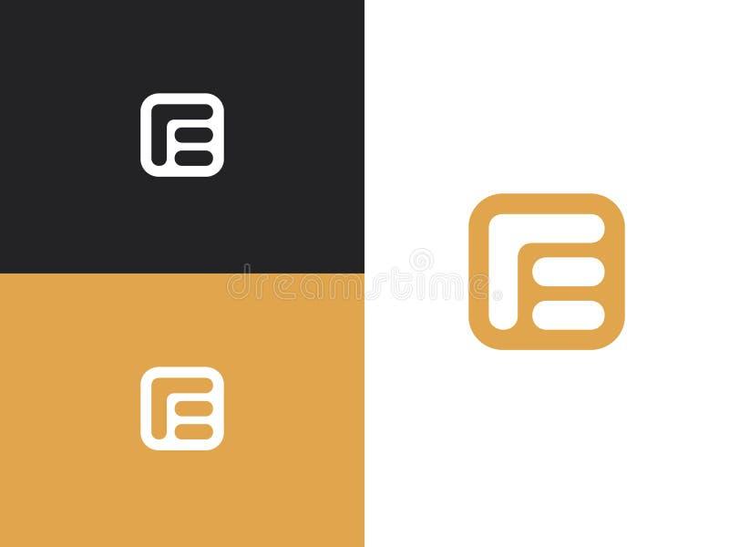 Initial letter E logo design template elements vector illustration