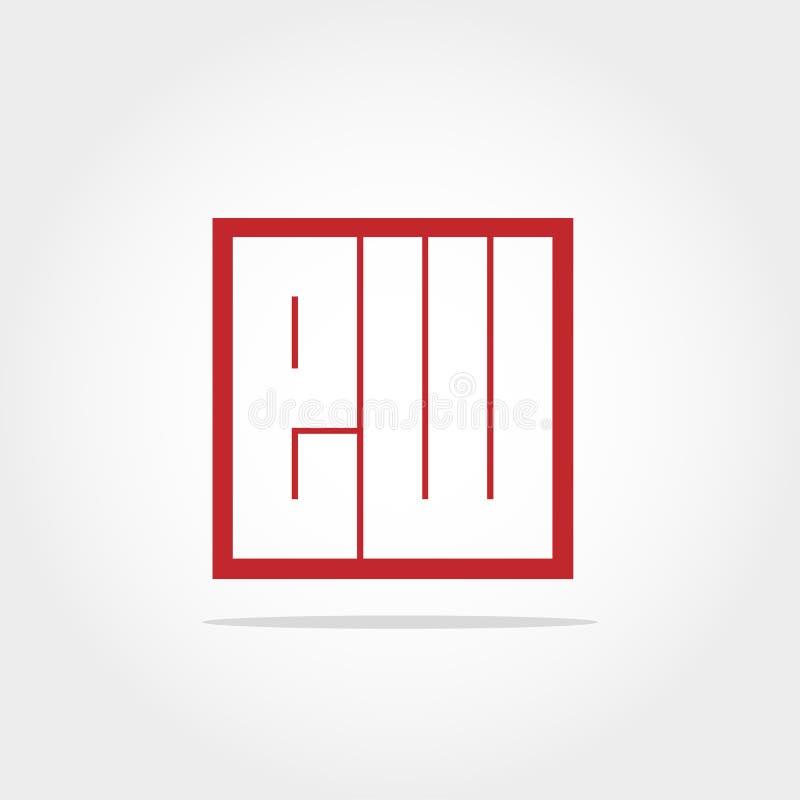 Initial Letter EW Logo Template Vector Design vector illustration