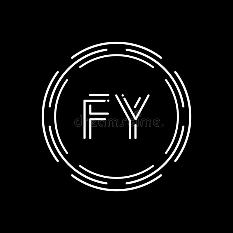 Initial Letter FY Logo Design Vector Template. Creative