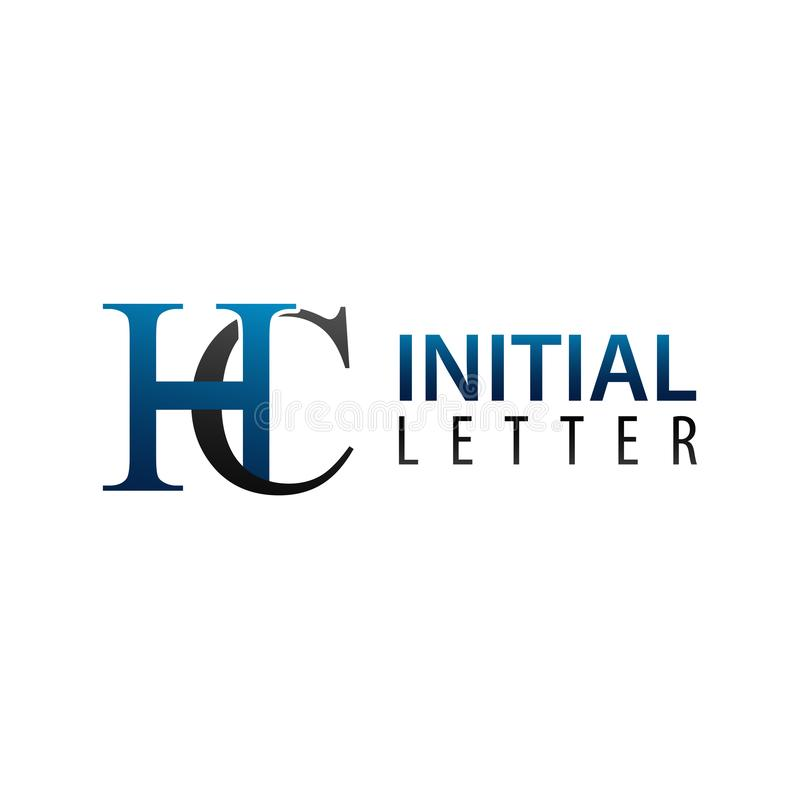 Initial letter HC logo concept design. Symbol graphic template element. Vector royalty free illustration