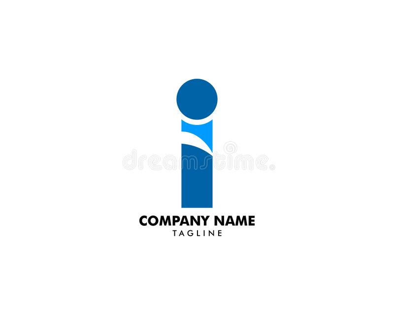 Initial Letter I Logo Template Design stock illustration