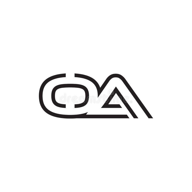 Letter Oa Logo . Initial Letter Design Vector Luxury Color