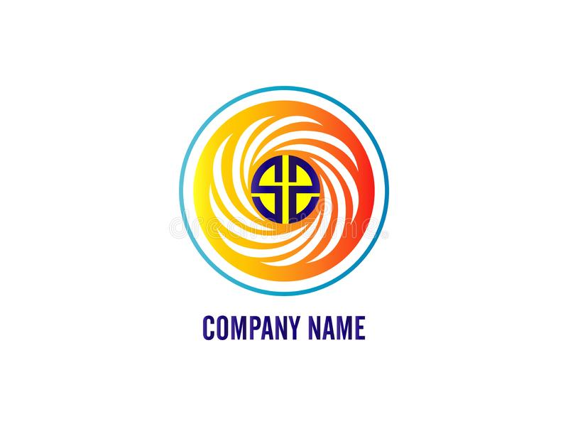 The Initial Letter logo SS with the circumference white line. Design Logo Vector Graphic Branding Letter Element. vector illustration