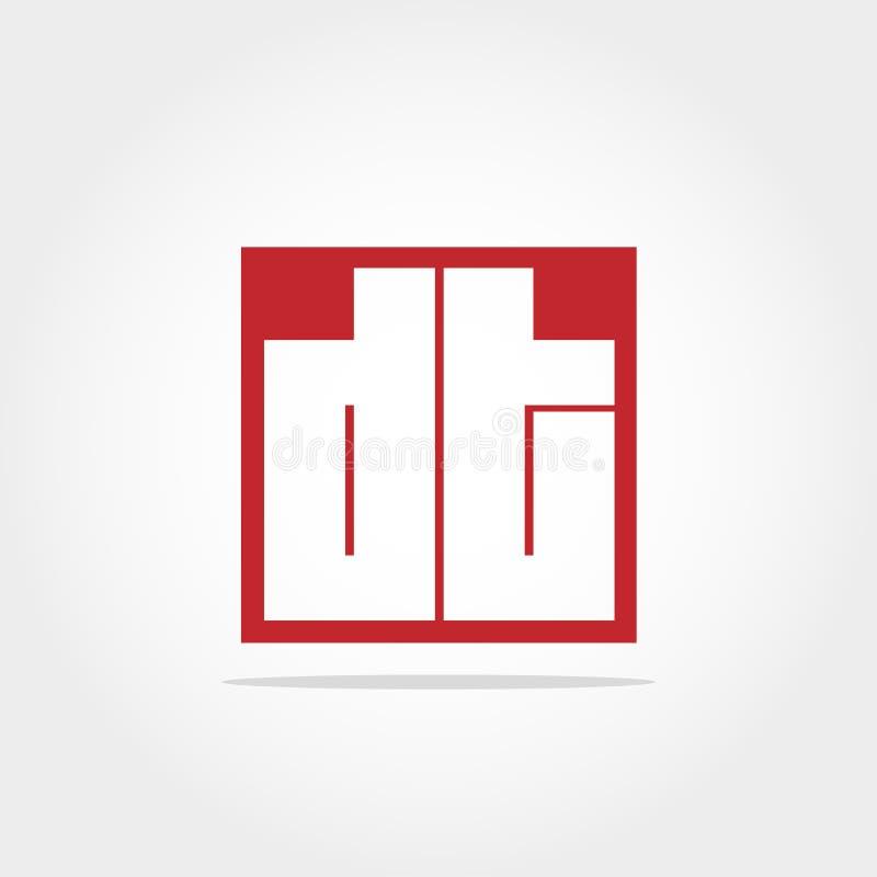 Initial Letter DT Logo Template Vector Design royalty free illustration