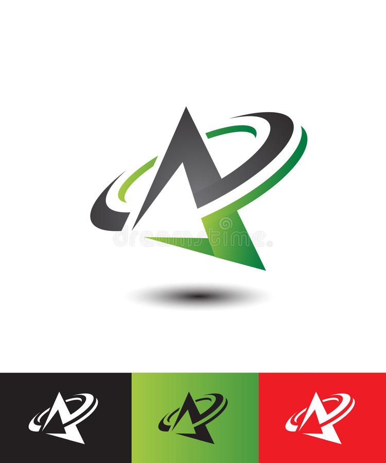 Initial letter A logo vector. Various Letter A big logo for your company royalty free illustration