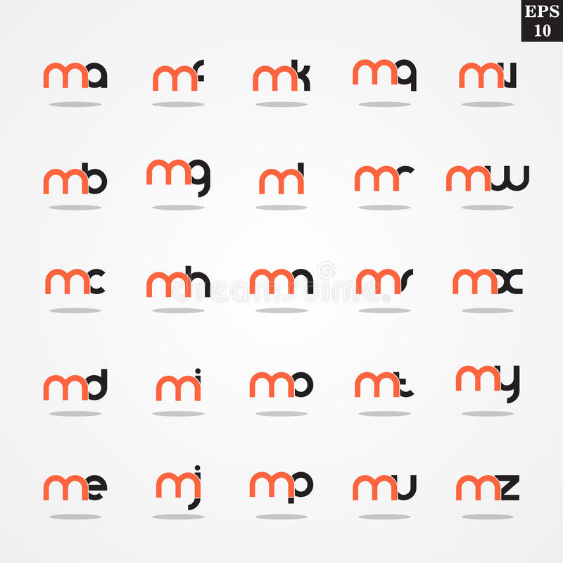 Initial letter m compilation from a to z lowercase logo design download initial letter m compilation from a to z lowercase logo design template colorful stock illustration spiritdancerdesigns Gallery