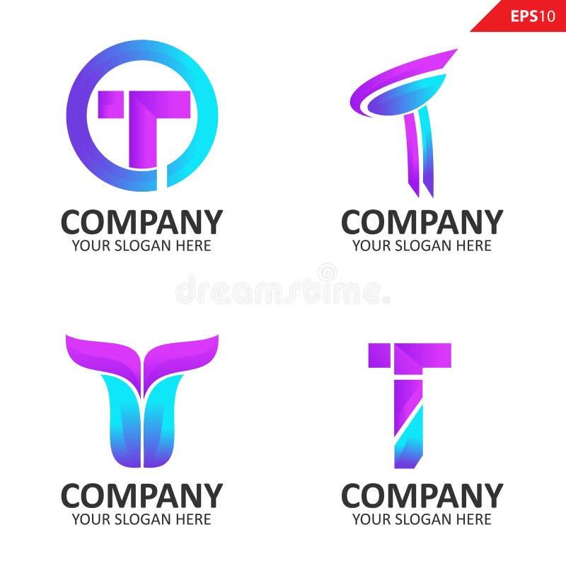 Letter T Logo Set Stock Vector. Illustration Of Brand