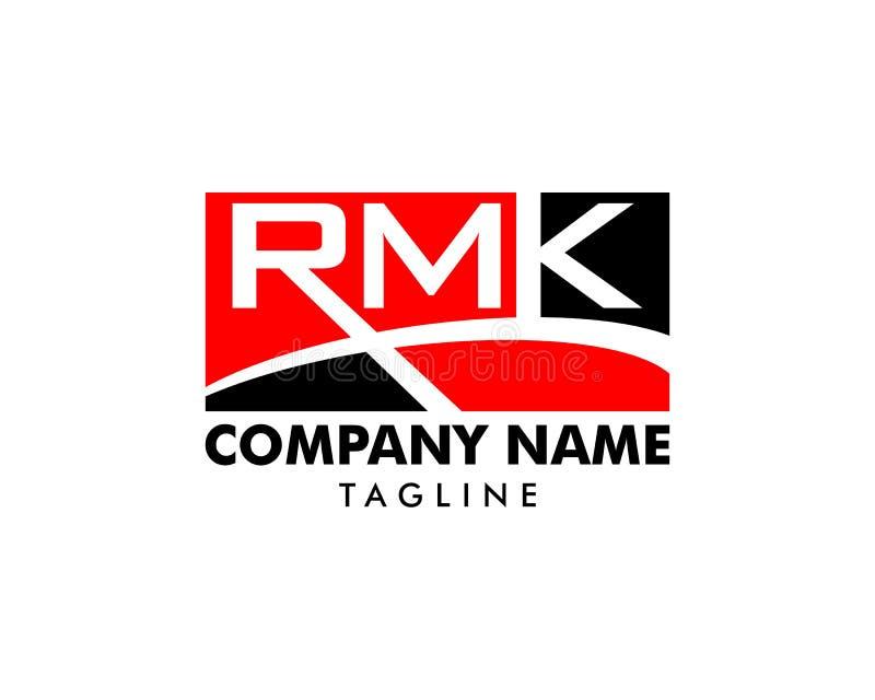 Initial Letter RMK Logo Template Design stock illustration