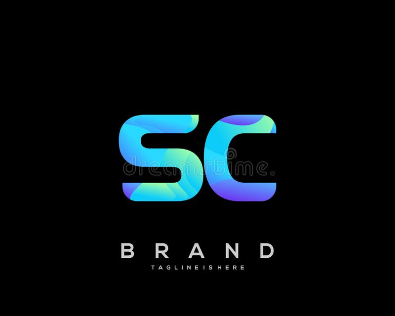 SC Letter Logo Design With Creative Modern Trendy ...