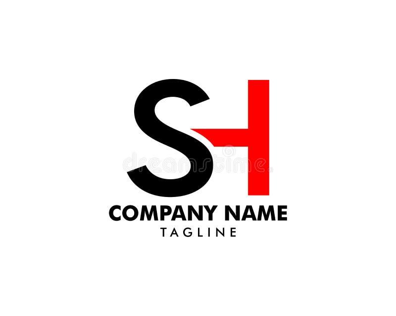 Initial Letter SH Logo Template Design stock illustration