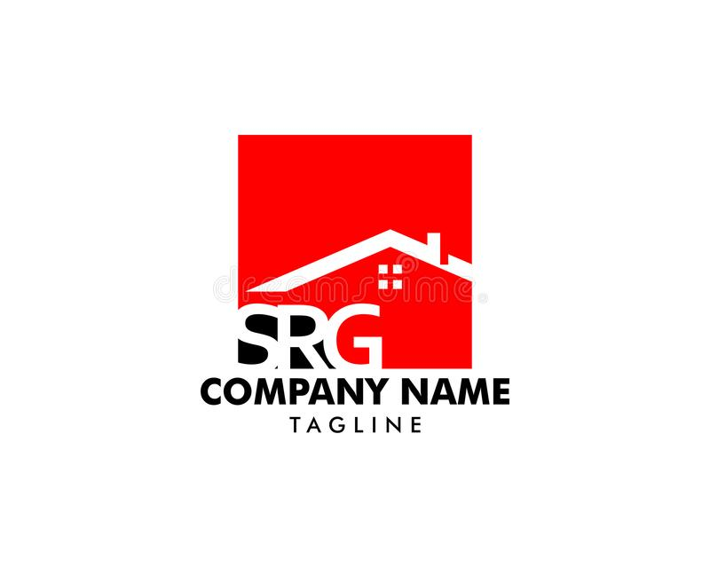 Initial Letter SRG House Logo vector illustration