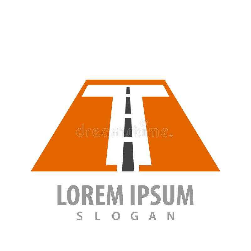 Initial letter T road font concept design. Symbol graphic template element vector vector illustration