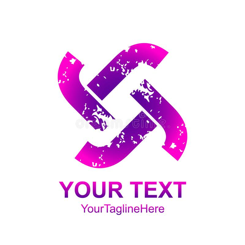 Initial letter T , TT logo template colorful distress design for vector illustration