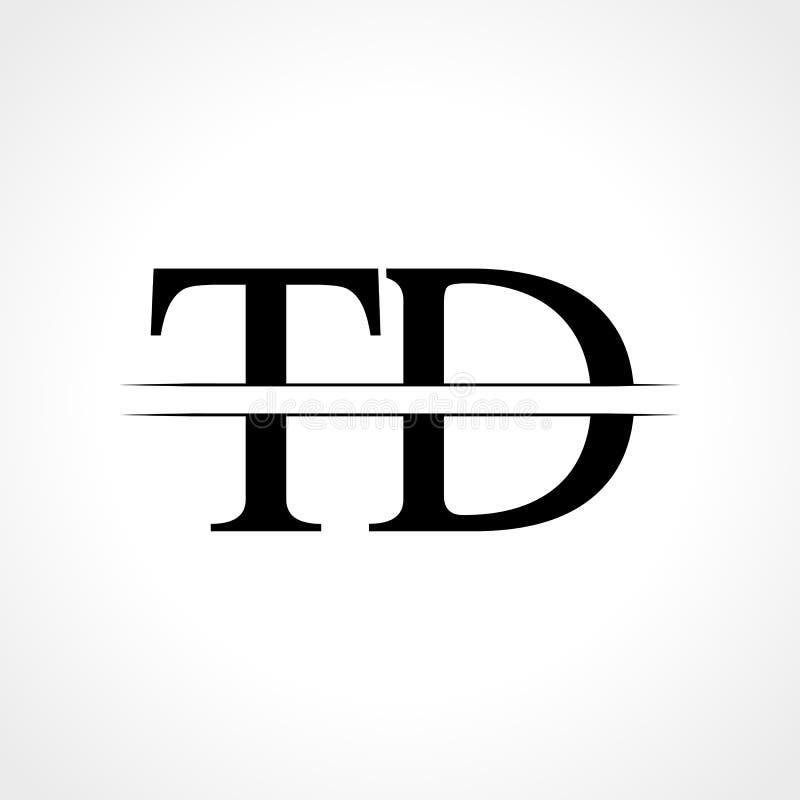TD Letter Logo Linked Modern Stock Vector