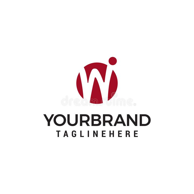 Initial letter W logo Template royalty free illustration