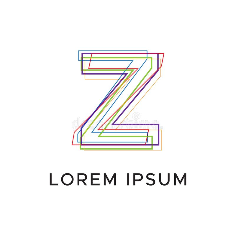 Initial letter Z abstract line logo royalty free illustration