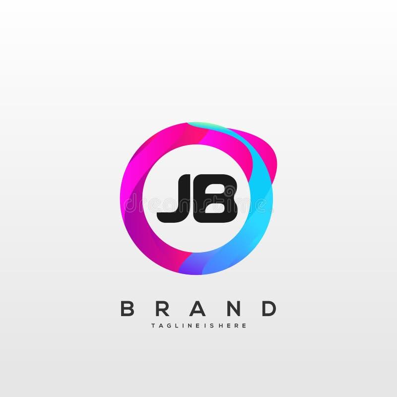 Letter JB Modern Design Business Concept Stock Vector