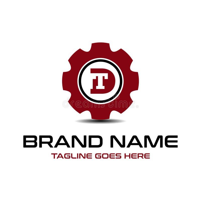 Initial logo DT repairs stock illustration