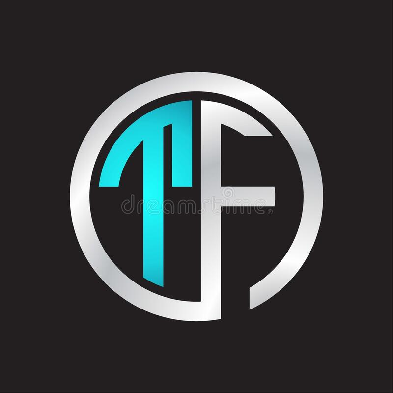 Initial Letter TF Logo Design Vector Template. Linked