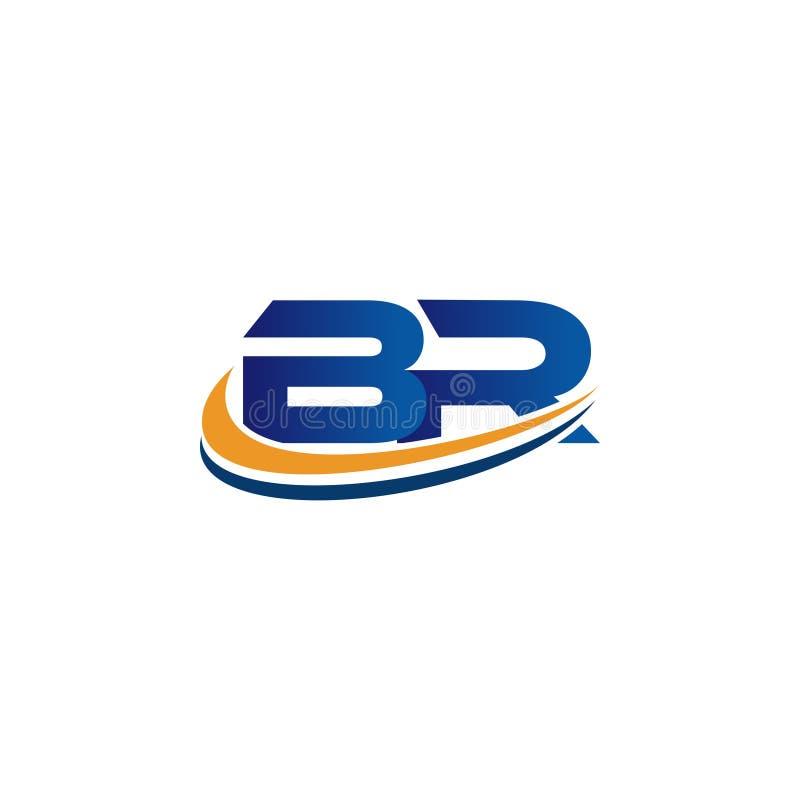 Initial logodesignbr arkivfoton