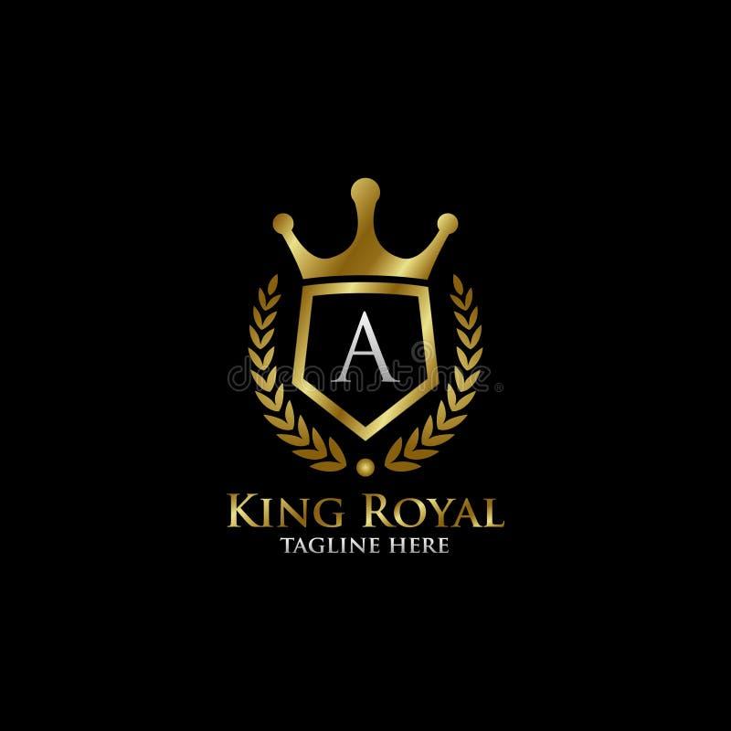 Luxury Letter H Logo: Initial A Luxury Shield Royal Logo Stock Illustration