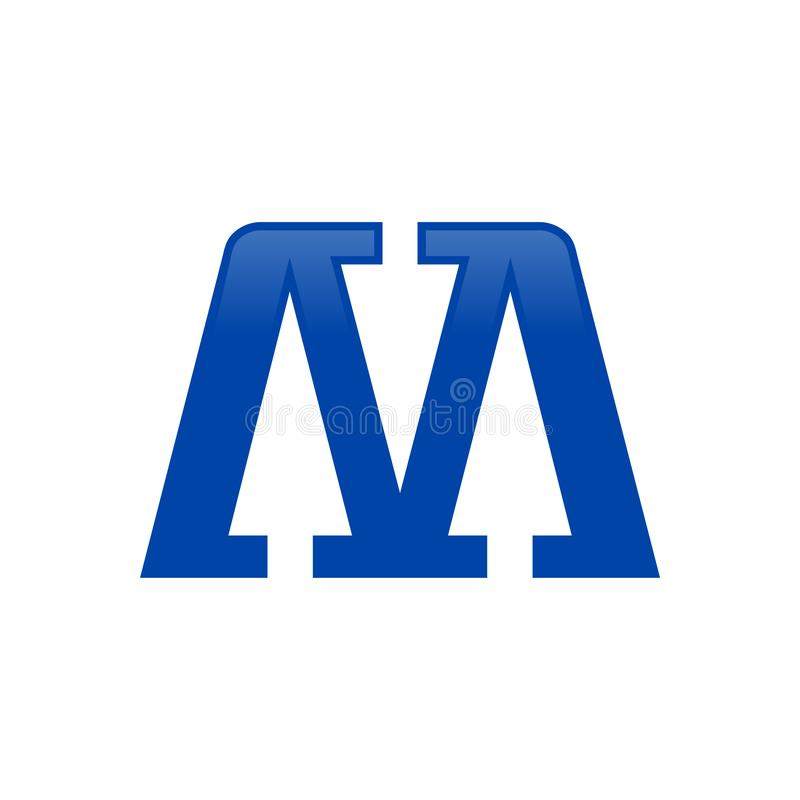 Initial M Lettermark Abstract Arrow Icon Design stock photo