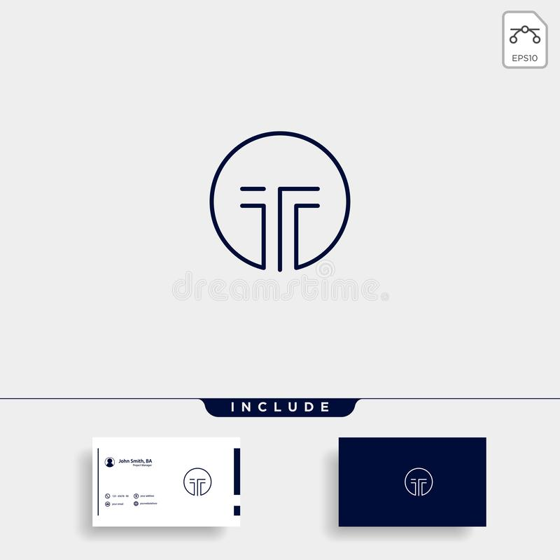 Initial T Simple Logo Template Vector Design. Icon, line, symbol, letter, technology, abstract, logotype, business, creative, modern, shape, element, company vector illustration
