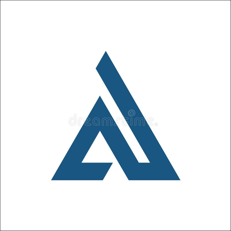 A initial triangle logo vector stock illustration