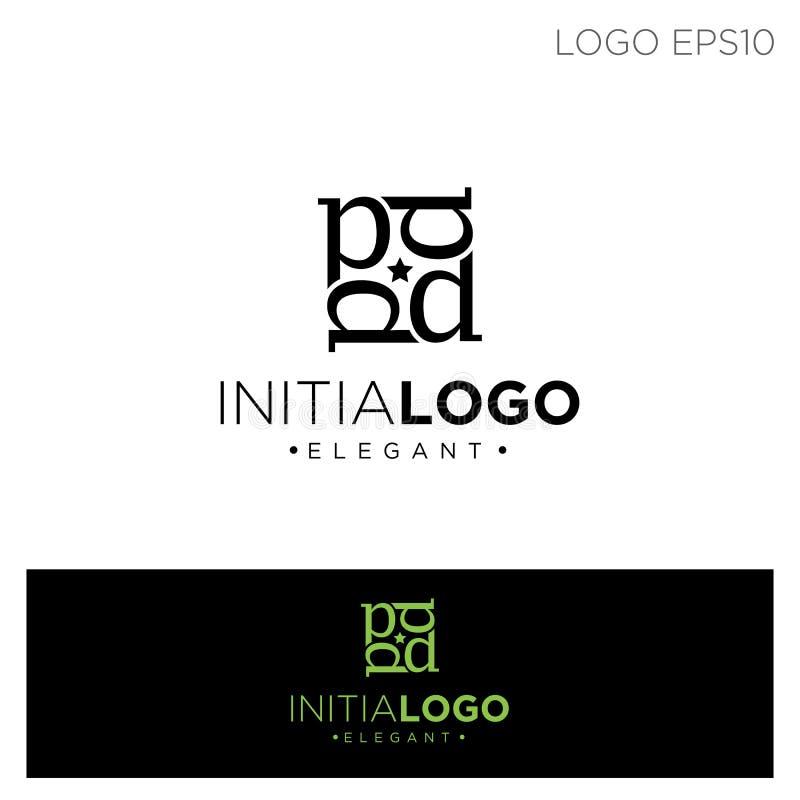 initiale b de monogramme ou illustration de vecteur de couleur de noir de calibre de logo de d illustration libre de droits
