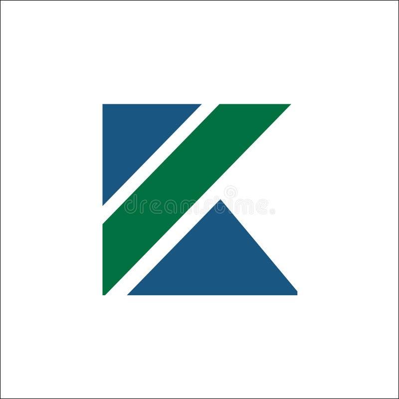 Initialen k-de vector van de ontwerpsjabloonelementen van het embleempictogram royalty-vrije illustratie