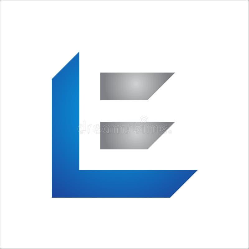 INITIALEN LE-EMBLEEM VECTORmalplaatje stock illustratie