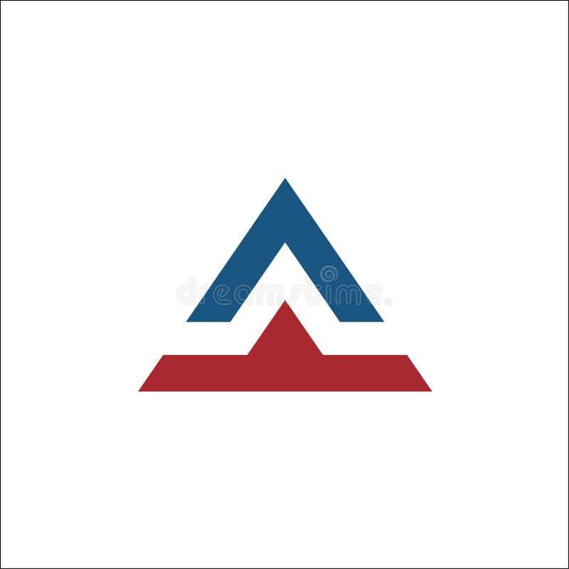 Initiales un calibre de vecteur de logo de lettre de triangle illustration stock
